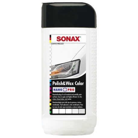 SONAX Polish & Wax Color NANO-PRO Spalvotas polirolis su vašku, 250 ml