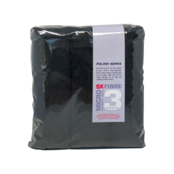 SX Polish wipes, balck, 3 pieces, 400 gsm, 40x40 cm